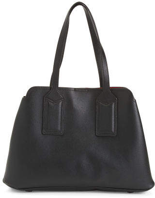 Triple Compartment Large Satchel