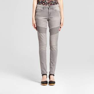 Mossimo Women's Jeans Mid Rise Skinny Moto - Mossimo Light Gray $29.99 thestylecure.com