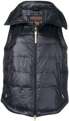 Woolrich zipped padded gilet