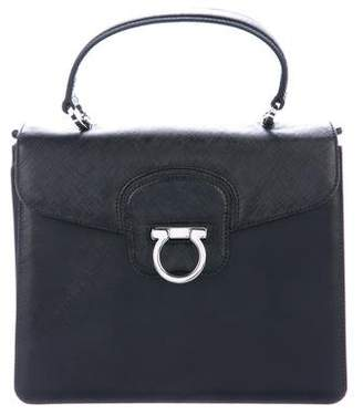Salvatore Ferragamo Leather Structured Satchel