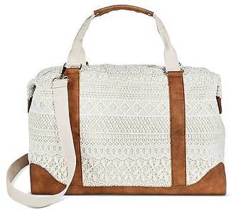 Merona; Women's Cream Crochet Overlay Canvas Weekender Handbag with Removable Crossbo... $34.99 thestylecure.com