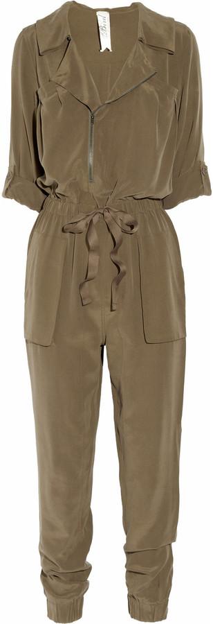 Bird by Juicy Couture Silk crepe de chine jumpsuit