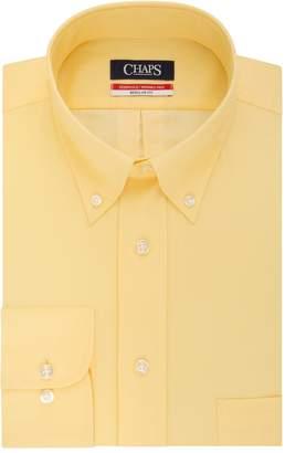 Chaps Big & Tall Essentials Regular-Fit Herringbone Wrinkle-Free Dress Shirt