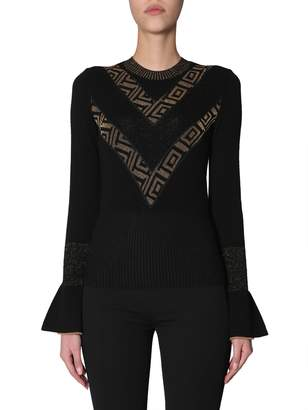 Versace Sweater With Ruffle Sleeves