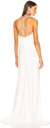 Oscar de la Renta Crystal Strap Gown