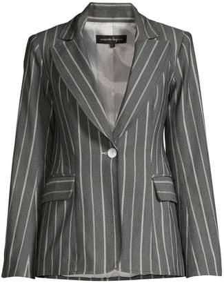 Nanette Lepore Denim Stripe Jacket