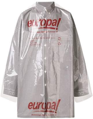 Balenciaga Bal Dry Clean button down shirt