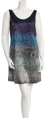 Julien David Fringe-Embellished Mini Dress w/ Tags