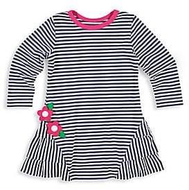 Florence Eiseman Little Girl's Striped Floral Appliqué Dress