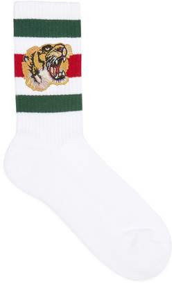 Gucci Stretch cotton socks with tiger