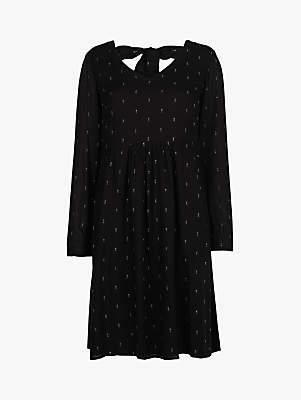 Fat Face Cilla Lurex Dress, Black