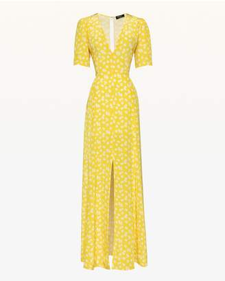 Juicy Couture Ditsy Daisy Silk Maxi Dress