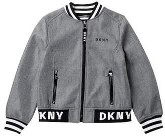 DKNY Softshell Bomber with Logo Trim (Big Girls)