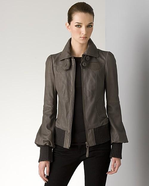 Mackage Women's Leane Knitted Short Leather Jacket