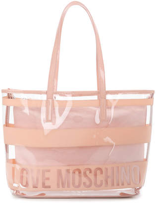 Love Moschino clear logo shoulder bag