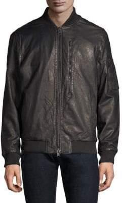 Hudson Jeans Leather Bomber Jacket