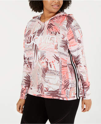Calvin Klein Plus Size Long Sleeve Pullover Hoodie