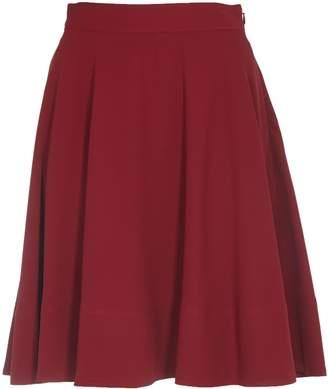 Calvin Klein Burgundy Flared Skirt