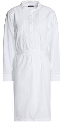 Rag & Bone Open Knit-Trimmed Cotton-Poplin And Piqué Shirt Dress