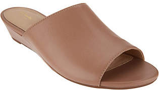 Clarks Artisan Leather Low Wedge Slides -Parram Waltz