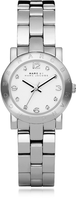 Marc by Marc Jacobs Mini Amy 26 MM Silver Tone Stainless Steel Women's Watch $175 thestylecure.com