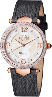 Black Diamond Gv2 Swiss Quartz Sassari Leather Strap Watch