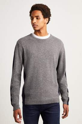 French Connenction Fisherman Wool Block Basic Jumper