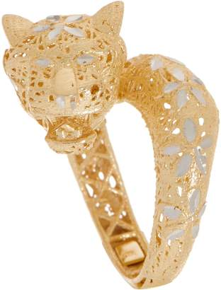 Italian Gold Panther Ring 14K Gold