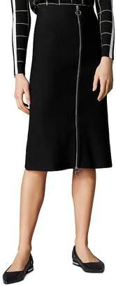 Karen Millen Zip-Front Midi Skirt