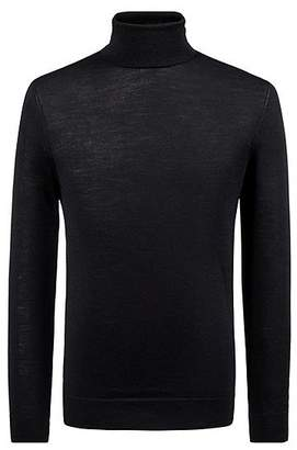 HUGO BOSS Turtle-neck sweater in a Merino wool blend