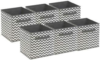 SORBUS Sorbus Foldable Storage Cube Basket Bin 6 PackChevron Pattern