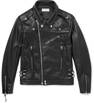 John Elliott Slim-Fit Leather Biker Jacket
