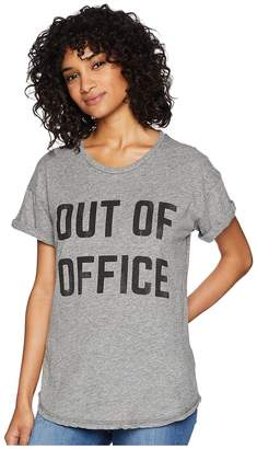 Original Retro Brand The Out of Office Short Sleeve Mocktwist Tee Women's T Shirt