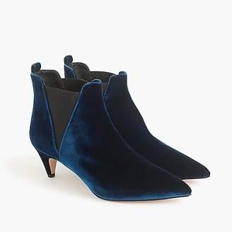J.Crew Kitten-heel Chelsea boots in velvet