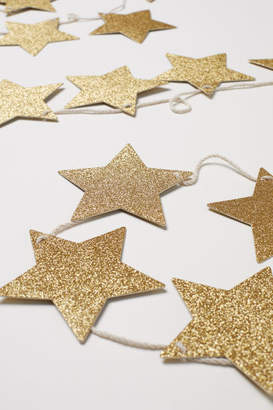 H&M Glittery Star Garland - Gold