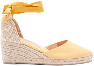 Castaner Joyce 60 Canvas & Jute Espadrille Wedges - Womens - Yellow