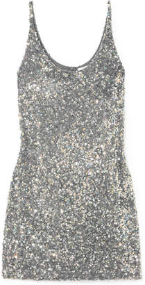 Ashish Sequined Georgette Mini Dress
