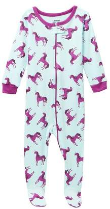 Leveret Unicorn Footed Pajama Sleeper (Baby Girls)