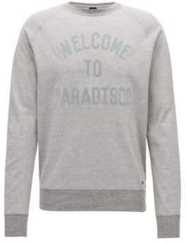 BOSS Hugo Applique Cotton Sweatshirt Wildlife XL Light Grey