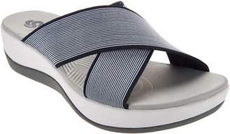 Clarks CLOUDSTEPPERS by Cross Band Slide Sandals - Arla Elin
