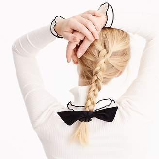 J.Crew Velvet knot hair tie