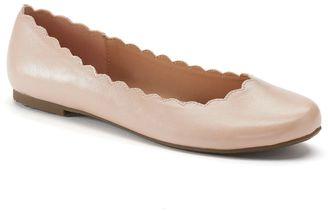 LC Lauren Conrad Women's Scalloped Ballet Flats $49.99 thestylecure.com