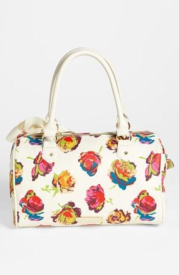 Betsey Johnson Faux Leather Floral Satchel