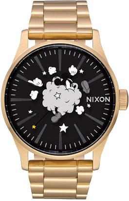 Nixon Men's Sentry Mickey Stainless Steel Bracelet Watch 42mm