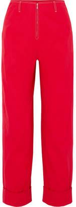 Vanessa Seward High-rise Straight-leg Jeans - Red