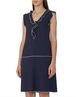 Reiss Vivienne Shift Dress With Frill Detail