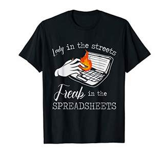 Funny Lady Of Boss Apparel Freaking In The Spreadsheets T-Shirt