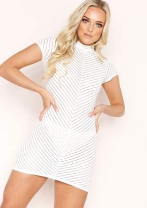 acc8a690fb7 Missy Empire Missyempire Meri White Ribbed Mesh Mini Dress