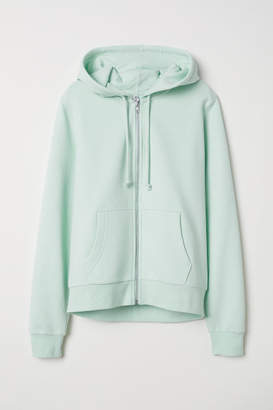 H&M Hooded Sweatshirt Jacket - Green