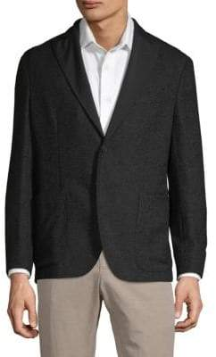 Boglioli Herringbone Textured Alpaca-Blend Jacket
